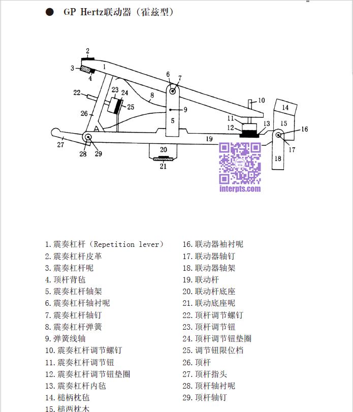 钢琴部件名称-三角钢琴Hertz型联动器.jpg